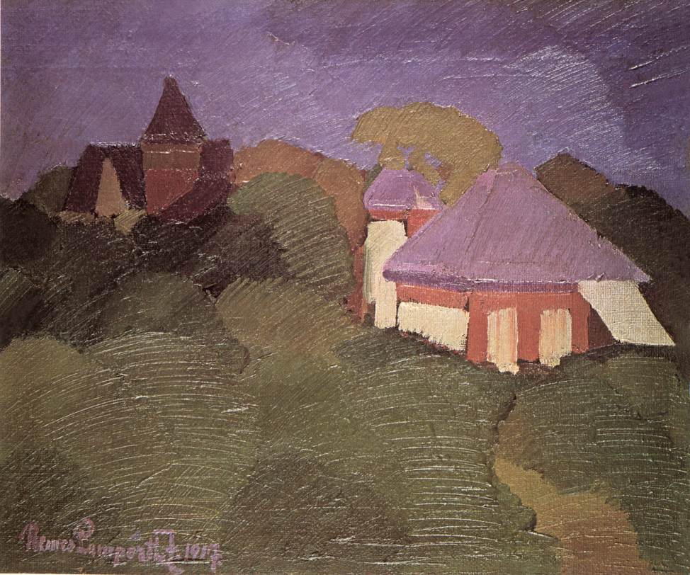 A Villa among Trees 1917 | Jozsef Lamperth Nemes | Oil Painting