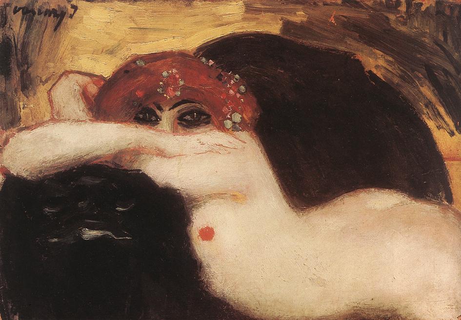 Read headed Nude | Janos Vaszary | Oil Painting