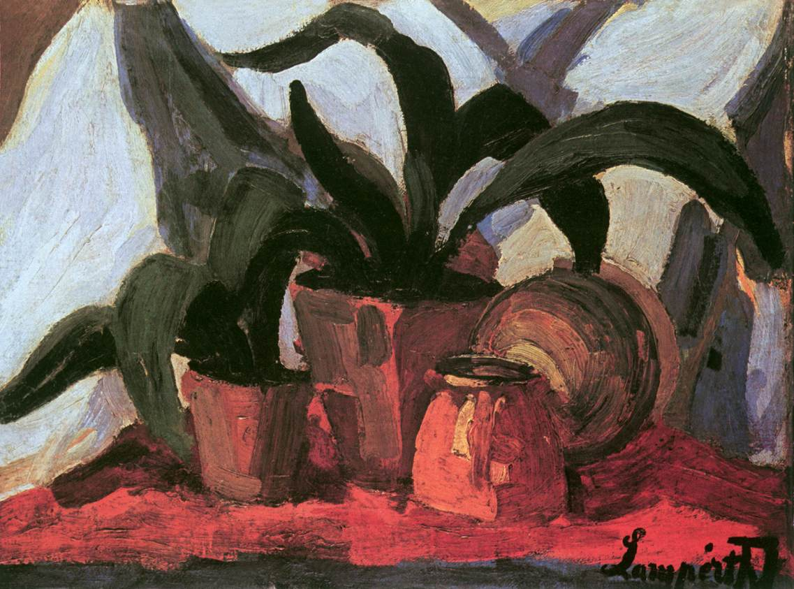 Plant Still life 1910 11 | Jozsef Lamperth Nemes | Oil Painting