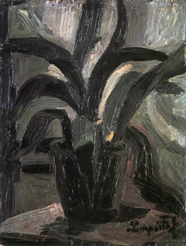 Plant Still life 1910 | Jozsef Lamperth Nemes | Oil Painting