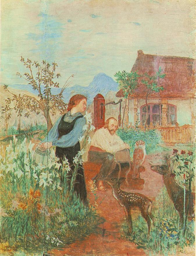 Our Garden 1902 | Sandor Nagy | Oil Painting