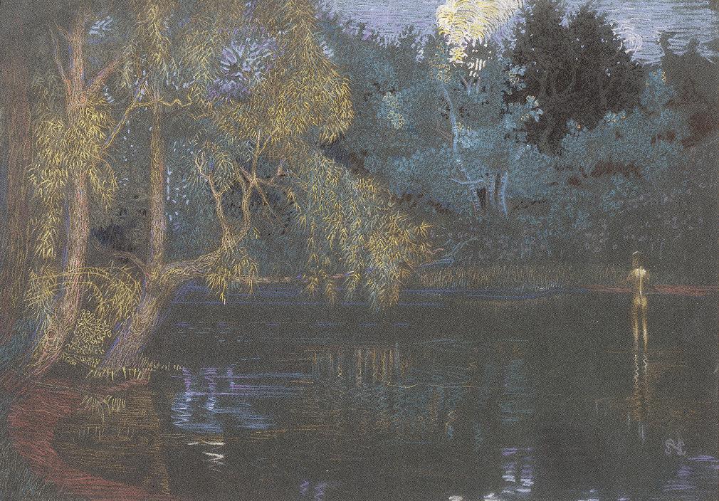 Lake at Szentjakab 1908 | Sandor Nagy | Oil Painting
