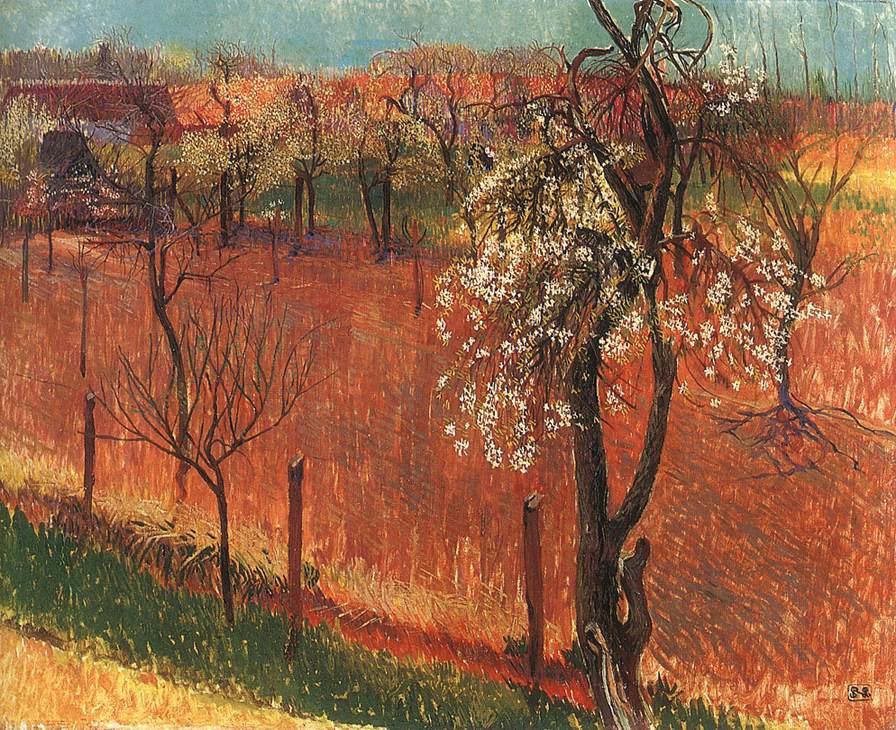 Blossoming Trees (Springtime at Godollo) | Sandor Nagy | Oil Painting