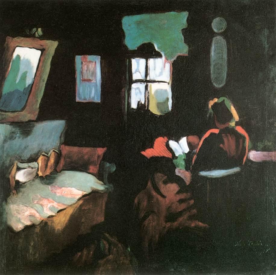 Reading Woman about 1920   Oszkar Nagy   Oil Painting