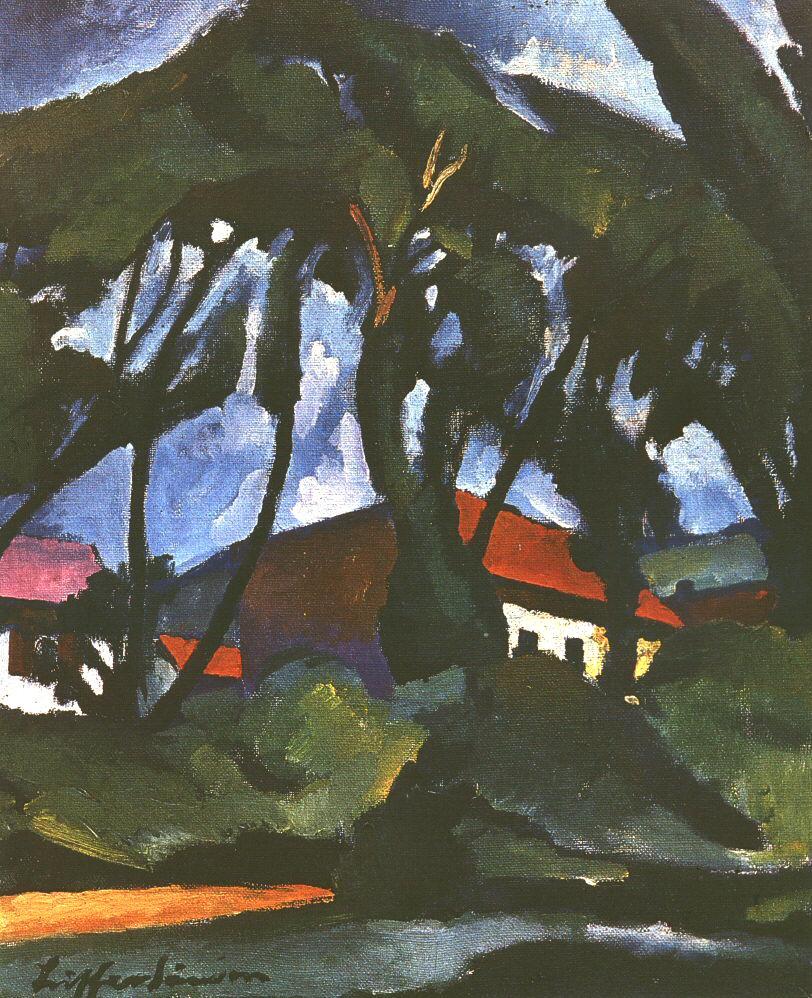 Nagybanya Landscape 1925 | Sandor Ziffer | Oil Painting