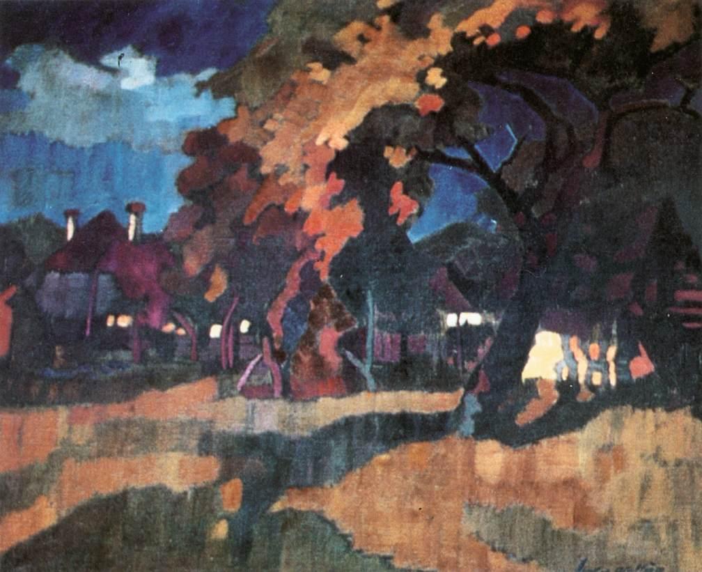 Sunset 1930   Oszkar Nagy   Oil Painting