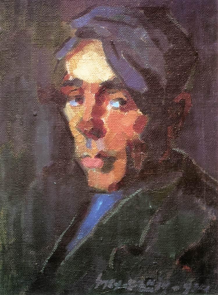 Self portrait 1934   Oszkar Nagy   Oil Painting
