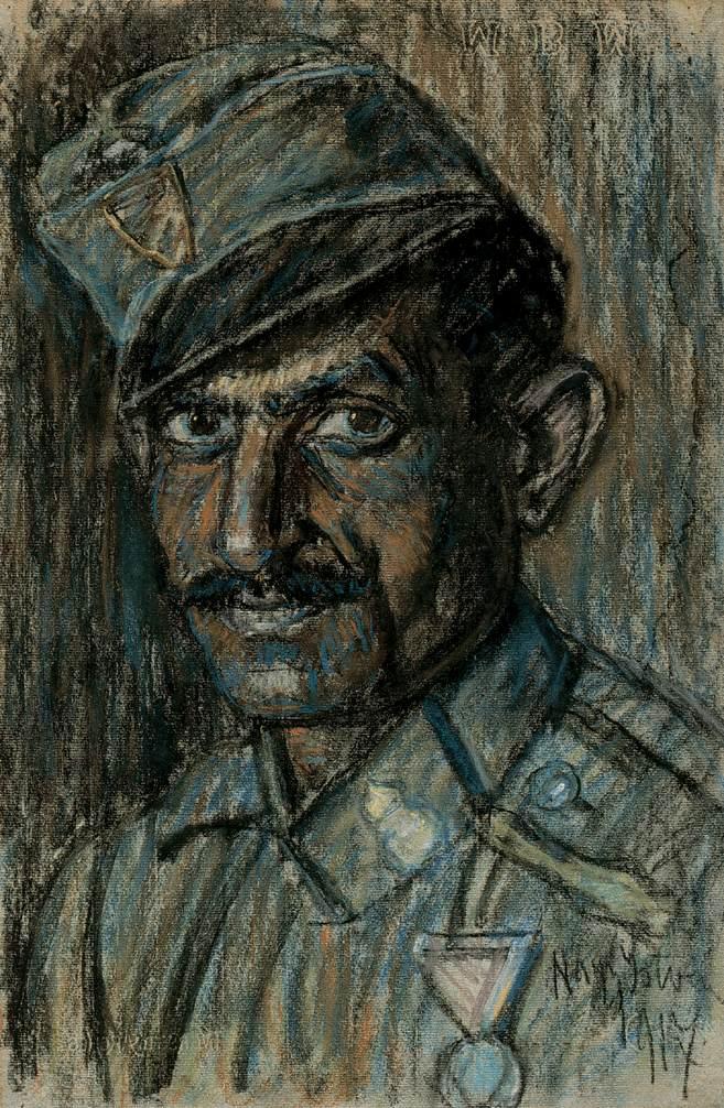 Head of a Soldier 1917 | Istvan Nagy | Oil Painting