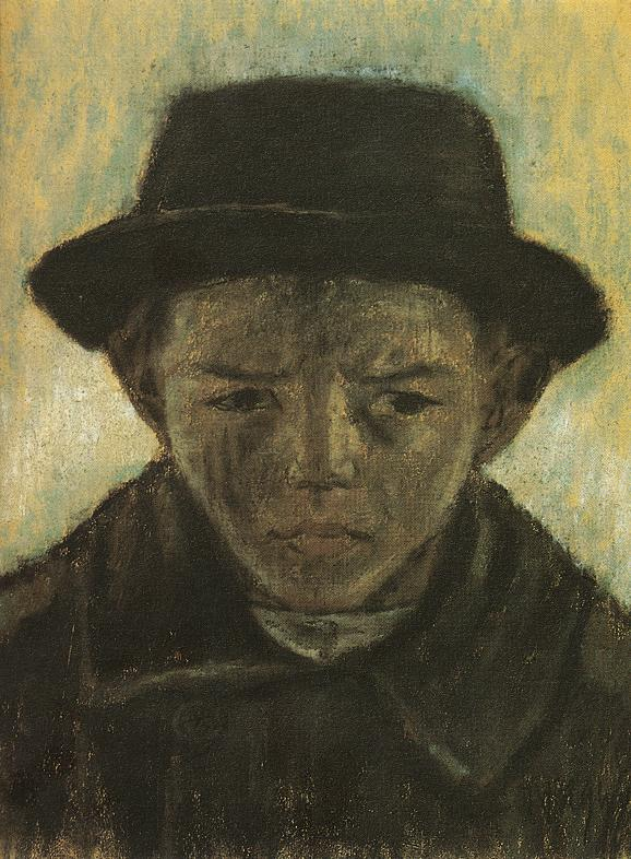 Hatted Head of a Boy 1930 | Istvan Nagy | Oil Painting