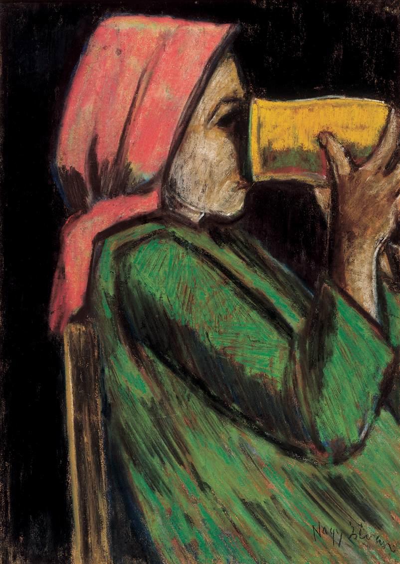 Drinking Girl | Istvan Nagy | Oil Painting