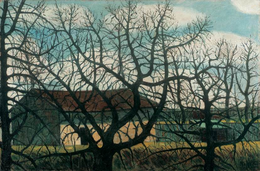 Bald Trees with Houses 1911 | Istvan Nagy | Oil Painting