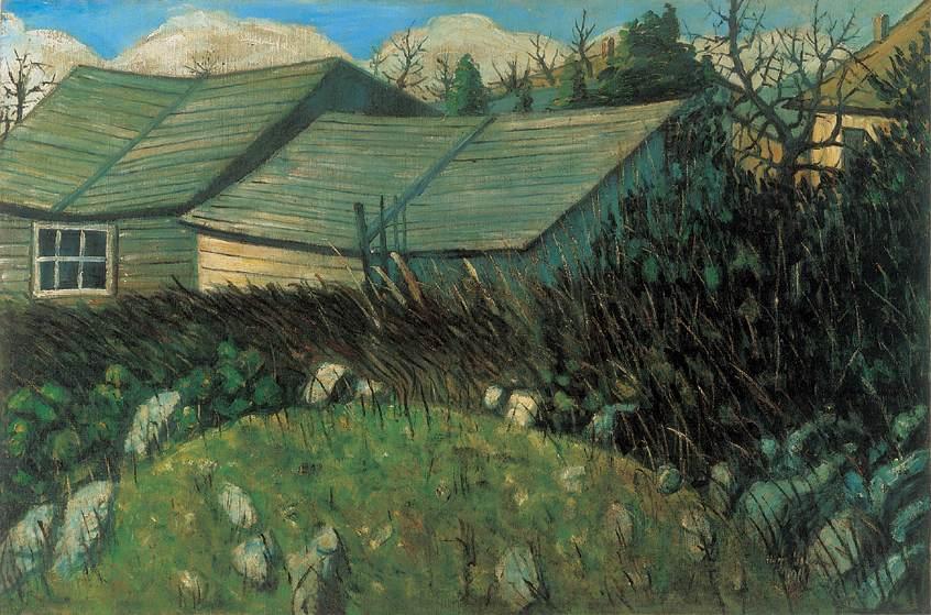 Backyard 1911 | Istvan Nagy | Oil Painting