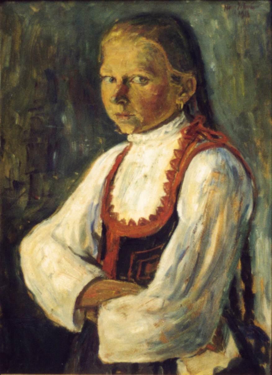 Szekler Girl 1913 | Istvan Nagy | Oil Painting