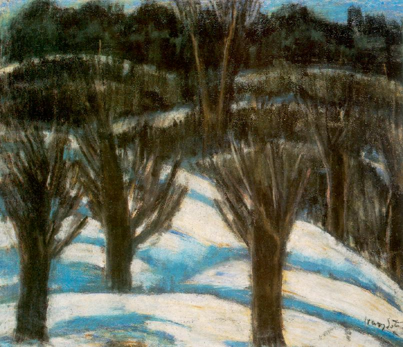 Snowy Landscape 1930 | Istvan Nagy | Oil Painting