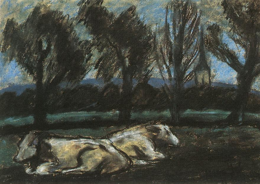 Resting Cows | Istvan Nagy | Oil Painting
