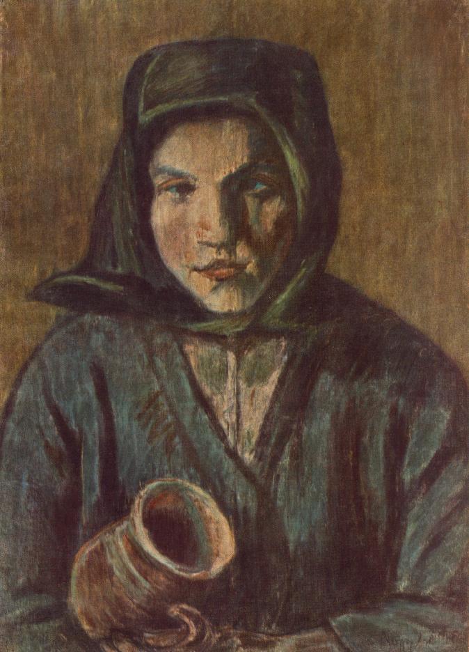 Peasant Girl with Jug 1927 | Istvan Nagy | Oil Painting