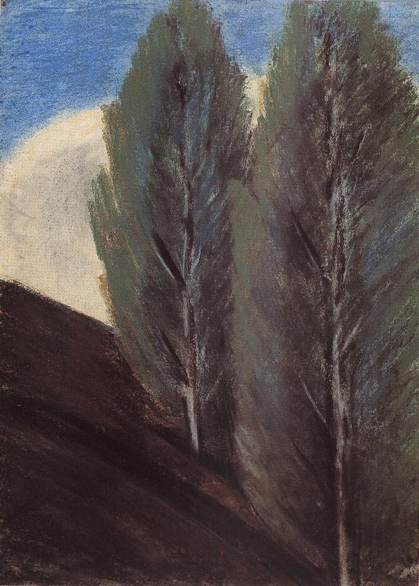 Hillside with Poplars 1927 | Istvan Nagy | Oil Painting