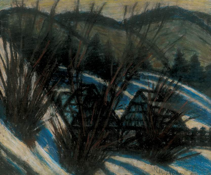 Hills with Blue Shadows 1930 32 | Istvan Nagy | Oil Painting