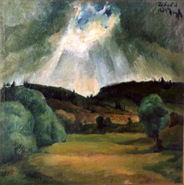 Landscape at Zsogod 1924 | Imre Nagy | Oil Painting