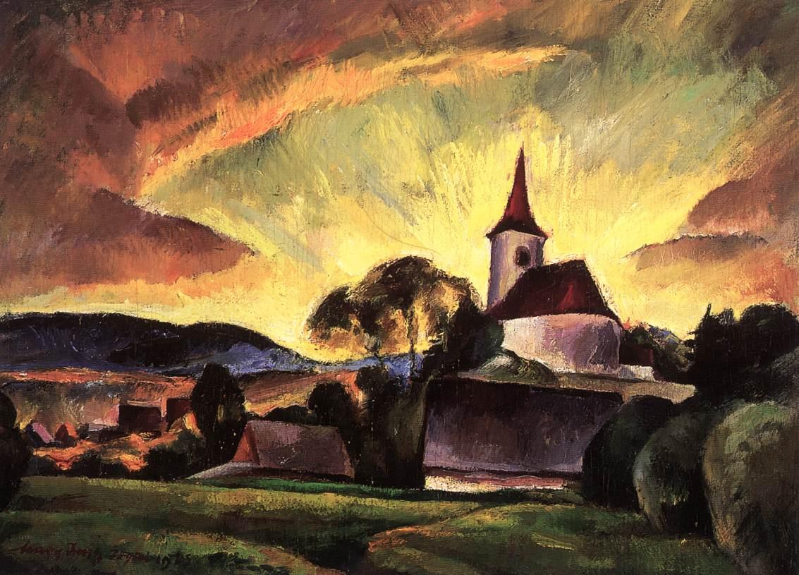 Village in Transylvania 1923 | Imre Nagy | Oil Painting