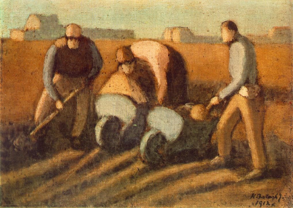 Navvies with Barrow 1912 | Janos Balogh Nagy | Oil Painting