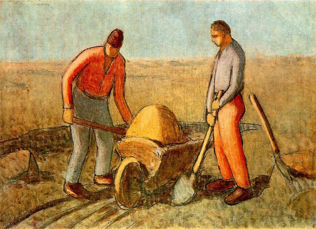 Navvies | Janos Balogh Nagy | Oil Painting