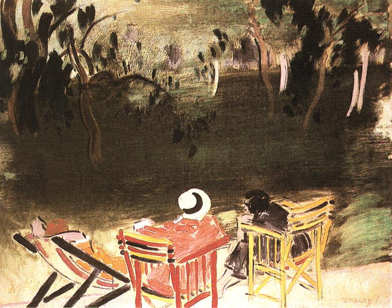 In the Park 1928   Janos Vaszary   Oil Painting