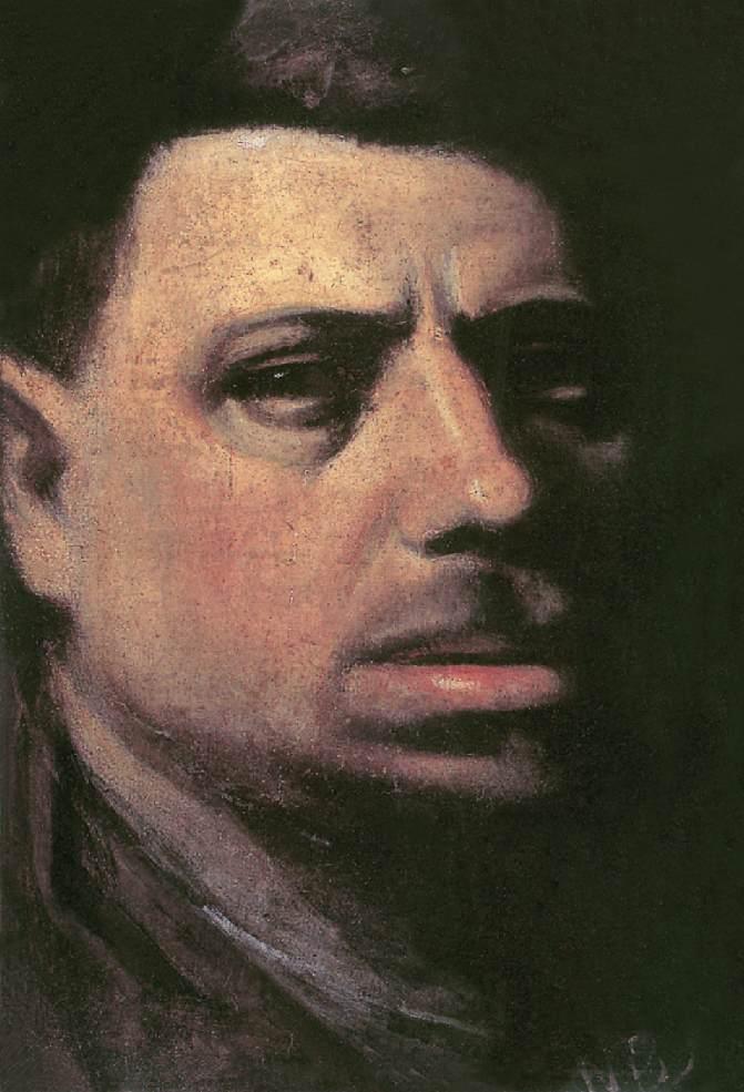 Self portrait 1910 15 | Janos Balogh Nagy | Oil Painting