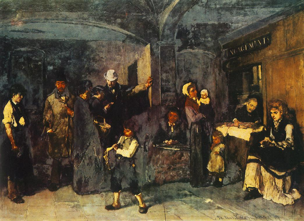 Pawn Office 1874 | Mihaly Munkacsy | Oil Painting