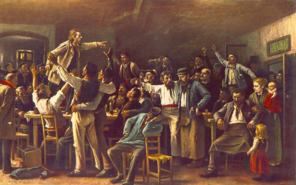 Strike 1895   Mihaly Munkacsy   Oil Painting
