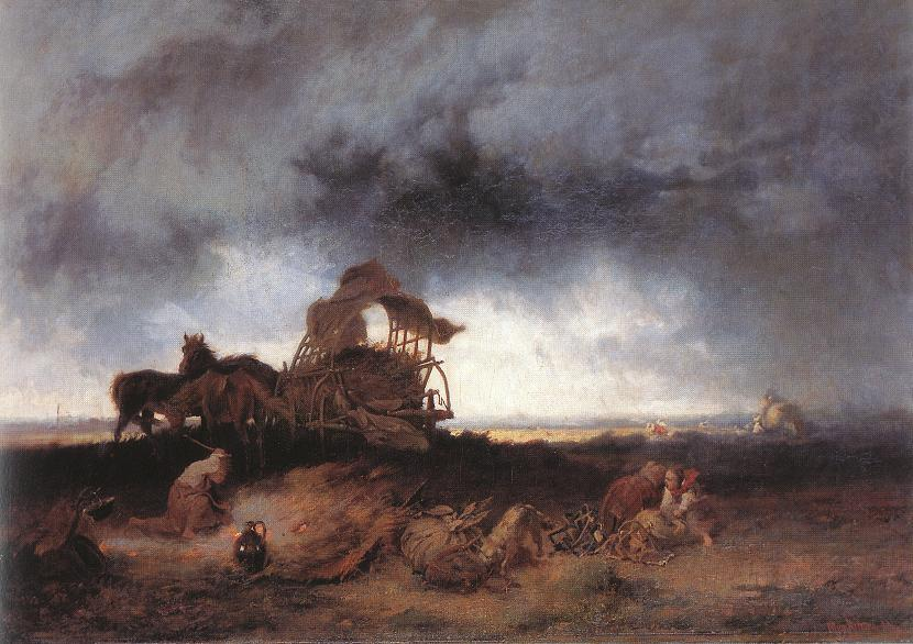 Storm at the Puszta 1867 | Mihaly Munkacsy | Oil Painting