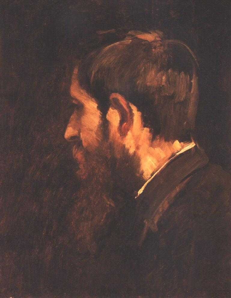 Portrait of Laszlo Paal 1876 77   Mihaly Munkacsy   Oil Painting
