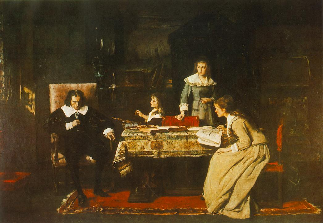 Milton 1877 78 | Mihaly Munkacsy | Oil Painting