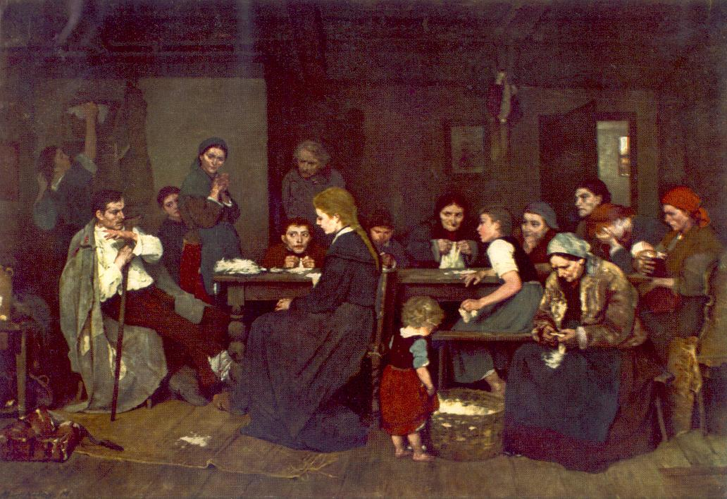 Making Lint 1871 | Mihaly Munkacsy | Oil Painting