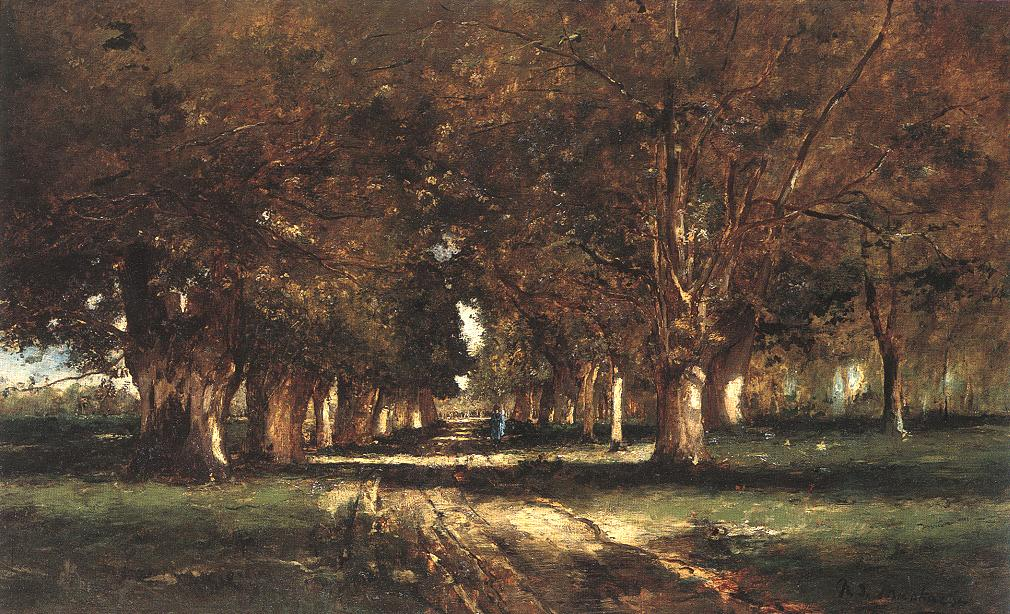 Line of Trees 1886 | Mihaly Munkacsy | Oil Painting