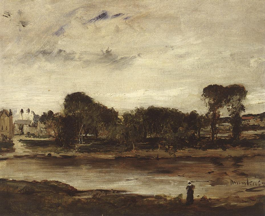 Landscape with River 1880   Mihaly Munkacsy   Oil Painting
