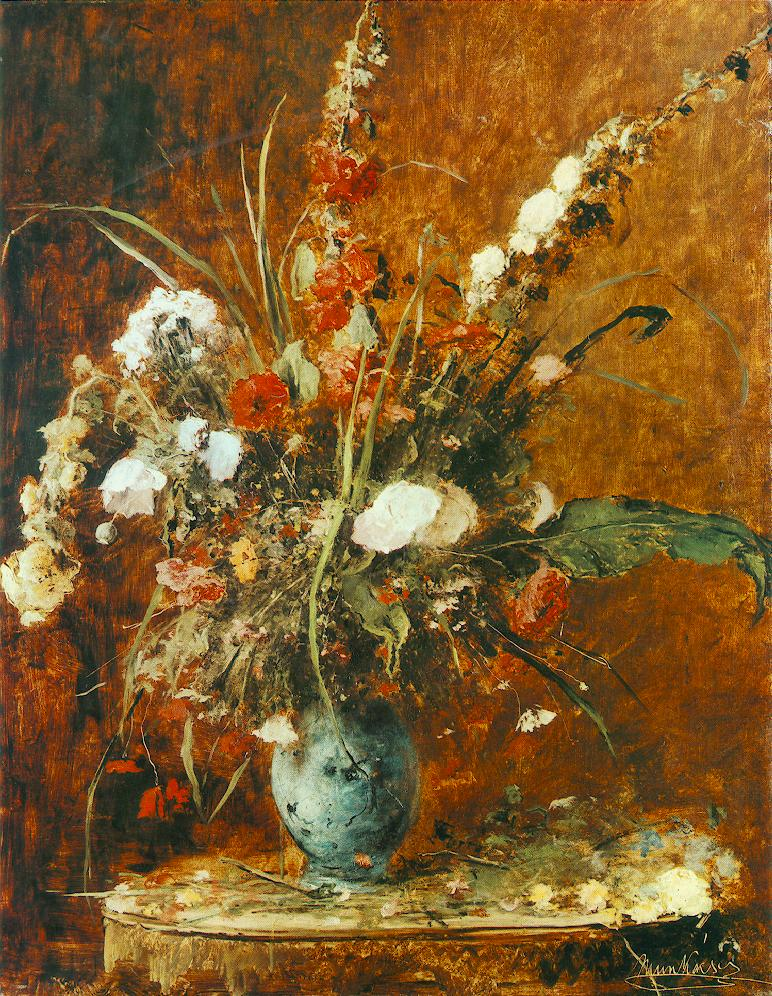 Great Flower Still Life 1881 | Mihaly Munkacsy | Oil Painting