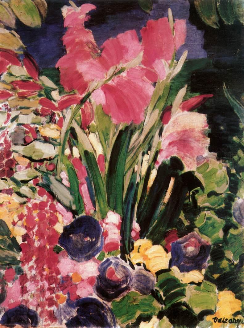 Gladioli 1938   Janos Vaszary   Oil Painting