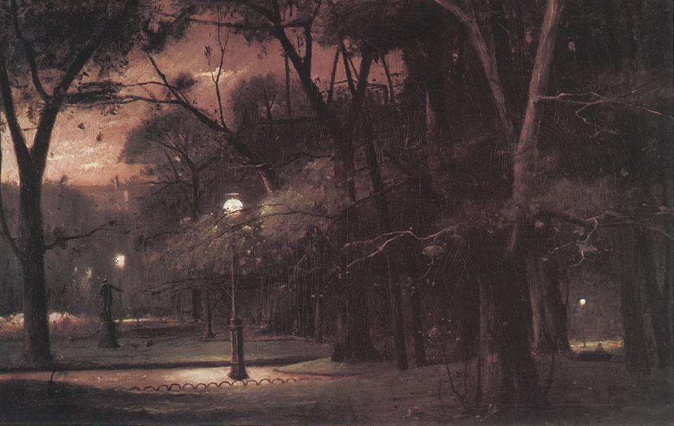Evening in Parc Monceau 1895 | Mihaly Munkacsy | Oil Painting
