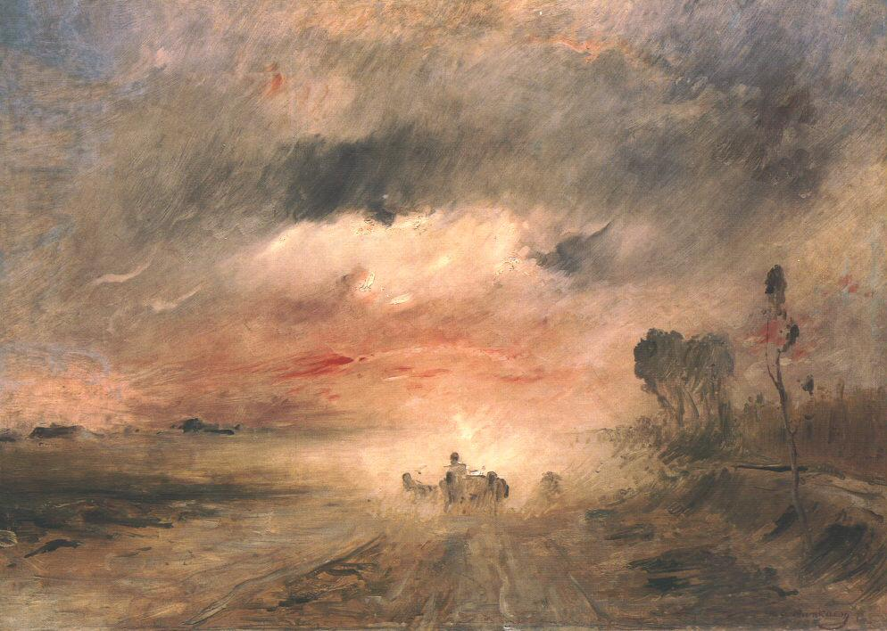Dusty Country Road II 1883   Mihaly Munkacsy   Oil Painting