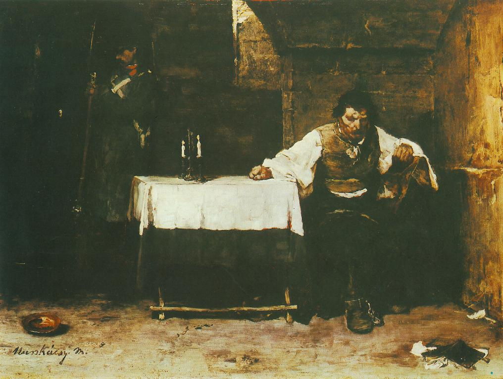 Condemned Cell (The Convict) 1869 72 | Mihaly Munkacsy | Oil Painting