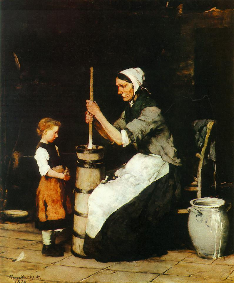 Churning Woman 1872 73 | Mihaly Munkacsy | Oil Painting