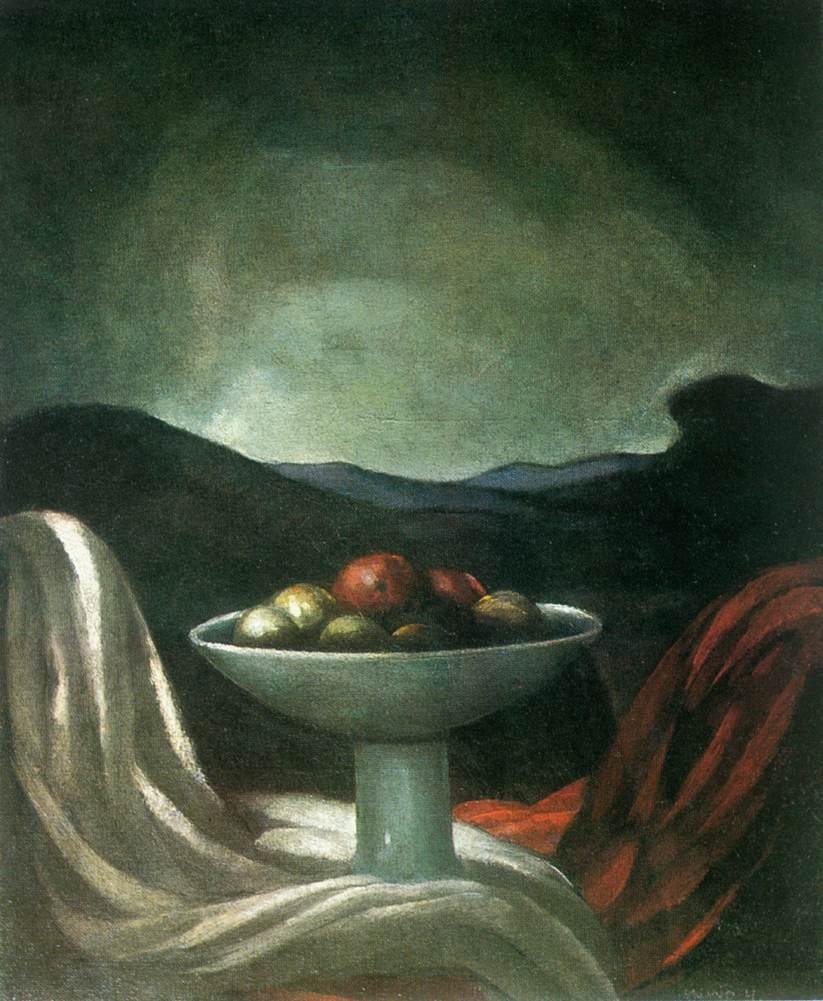 Still life in the Landscape 1924   Hugo Mund   Oil Painting