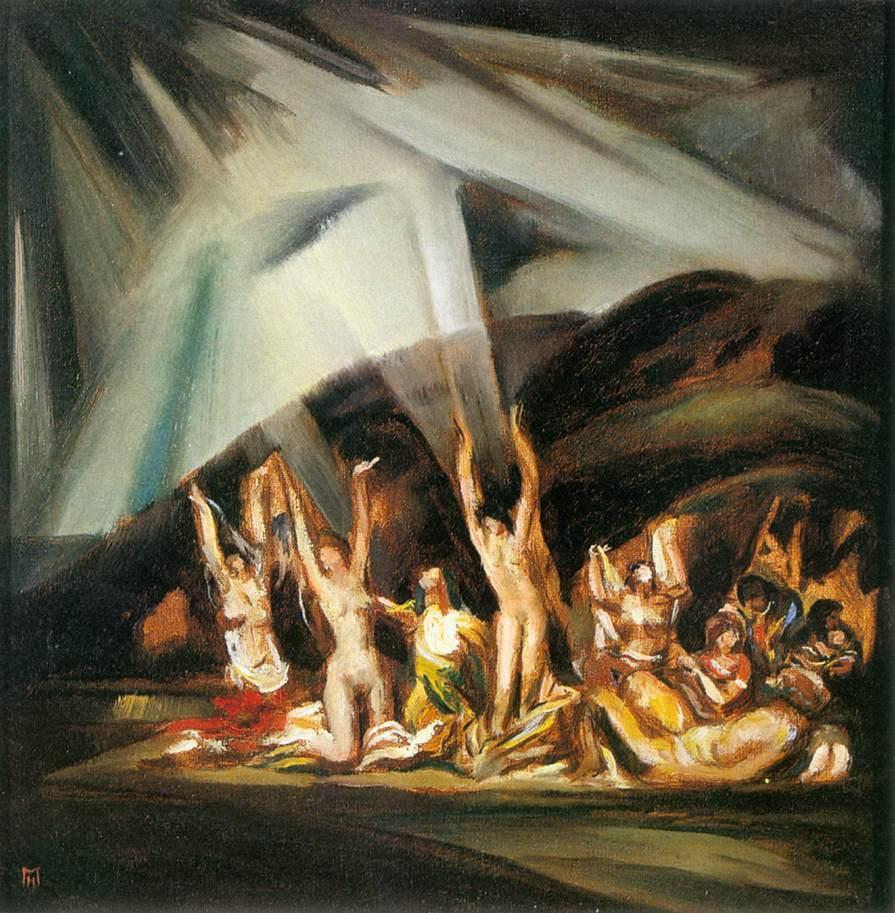 Mourners 1922   Hugo Mund   Oil Painting