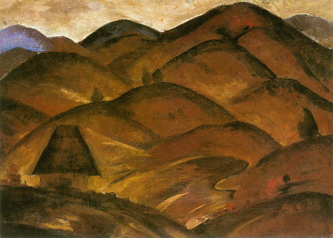 Landscape with Mountains 1922   Hugo Mund   Oil Painting