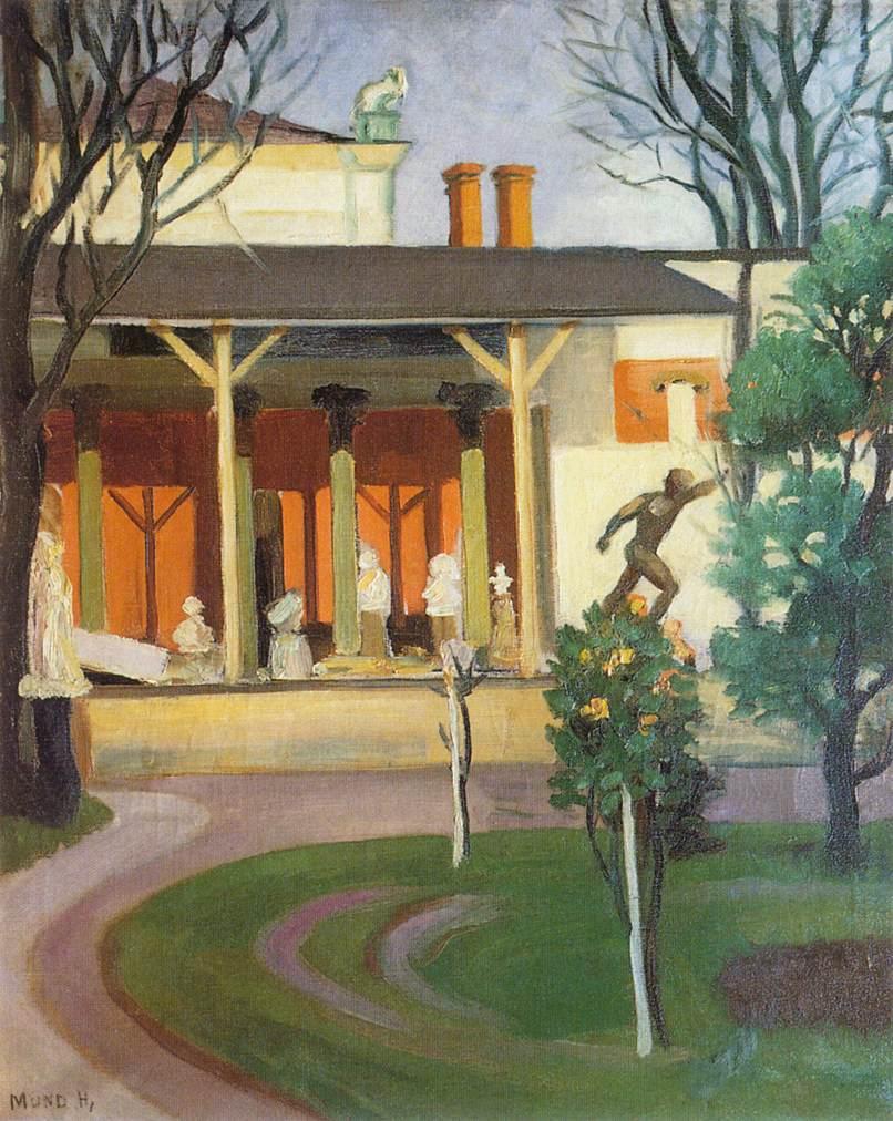 Epreskert (The Garden of Berries) 1916   Hugo Mund   Oil Painting