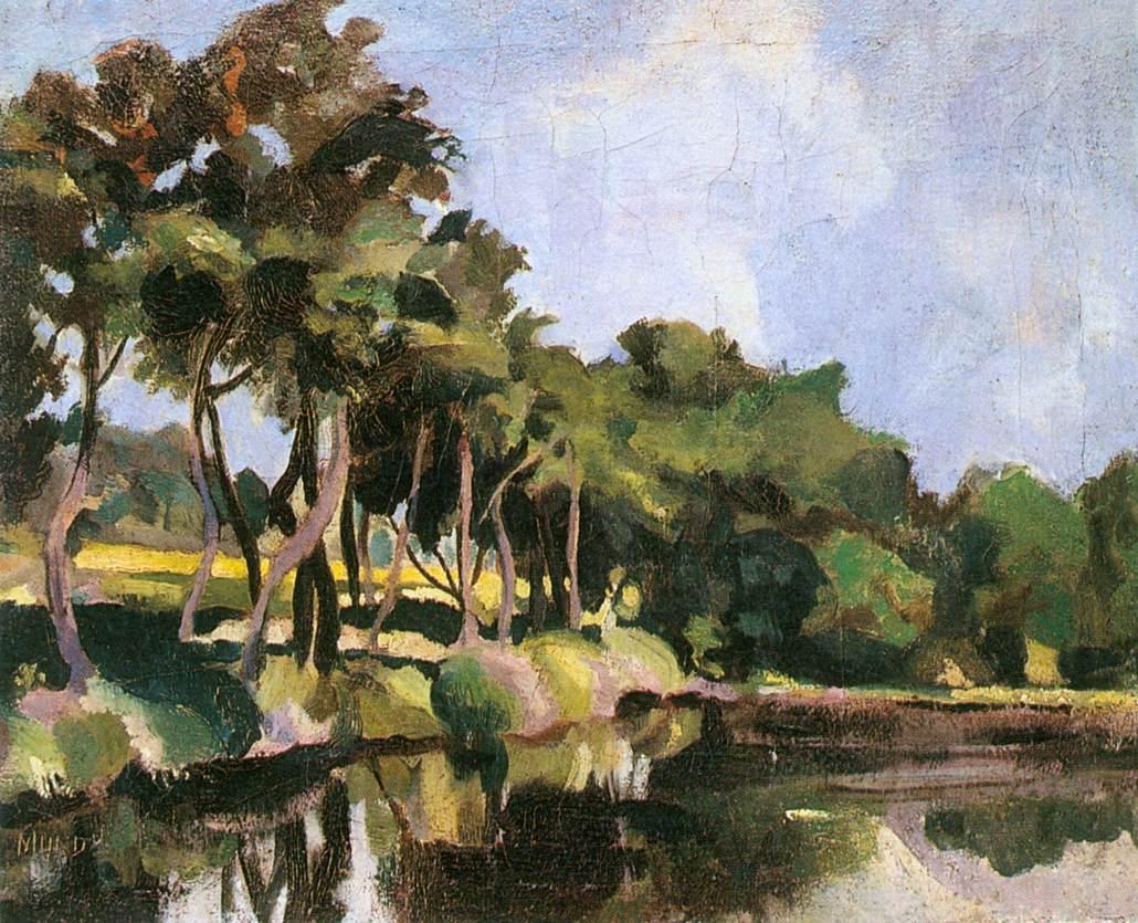 Brookside 1927   Hugo Mund   Oil Painting