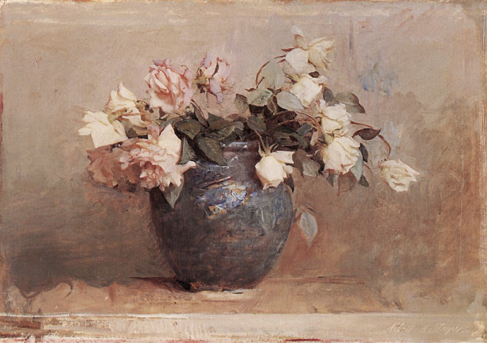 Roses | Abbott Henderson Thayer | Oil Painting