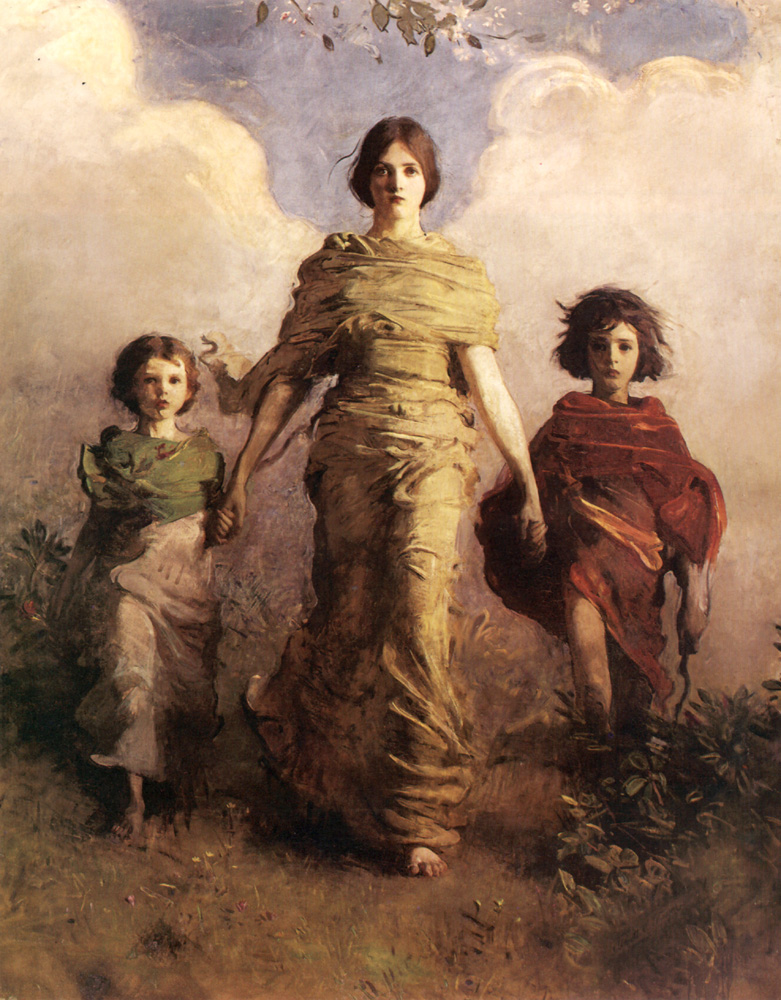 The Virgin | Abbott Henderson Thayer | Oil Painting