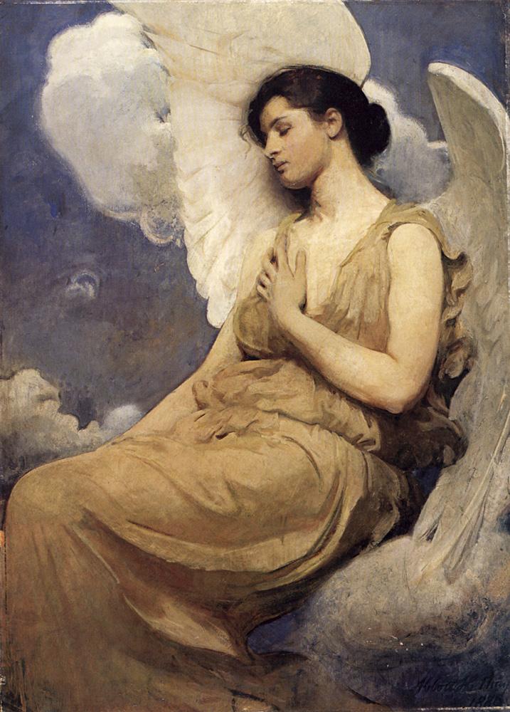 Winged figure | Abbott Henderson Thayer | Oil Painting
